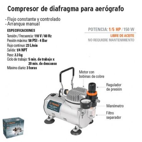 Compresor de Diafragma para Aerografo TRUPER