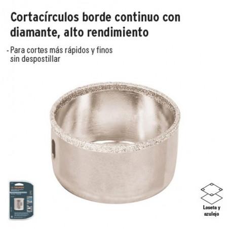 Cortacirculos Borde Continuo con Diamante Alto Rendimiento TRUPER