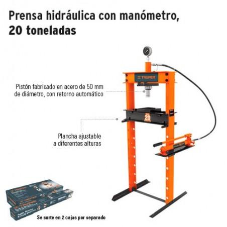 Prensa Hidraulica con Manometro 20 Toneladas TRUPER