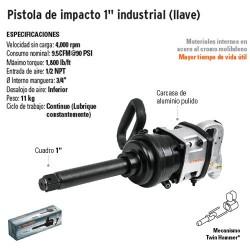 "Pistola de Impacto 1"" Industrial TRUPER"