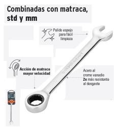 Llave Combinada con Matraca Milimetrica TRUPER
