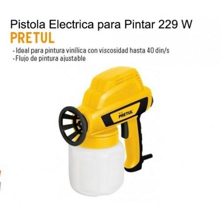Pistola Electrica para Pintar 229 W PRETUL