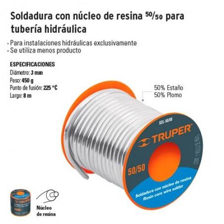 Soldadura con Nucleo de Resina 50/50 para Tuberia Hidraulica TRUPER