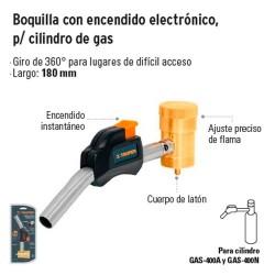 Boquilla con Encendido Electronico para Tanque de Gas Propano TRUPER