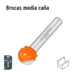Broca para Router Media Caña TRUPER
