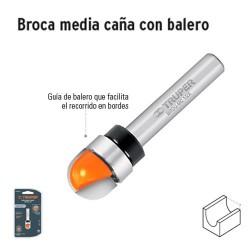 Broca para Router Media Caña con Balero TRUPER