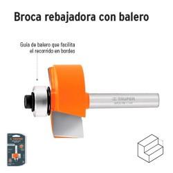 Broca para Router Rebajadora con Balero TRUPER