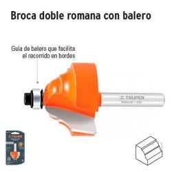 Broca para Router Doble Romana con Balero TRUPER