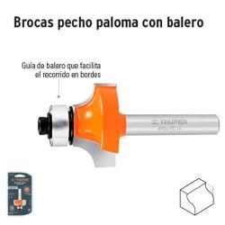 Broca para Router Pecho Paloma con Balero TRUPER