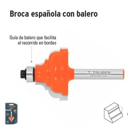 Broca para Router Española con Balero TRUPER