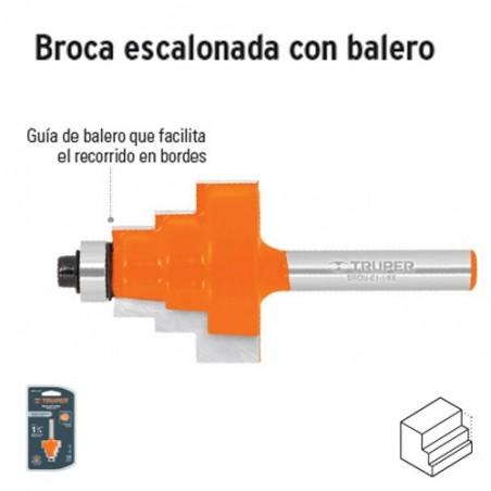 Broca para Router Escalonada con Balero TRUPER