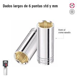 """Dados Largos de 6 Puntas Cuadro 1/4"""" TRUPER"""