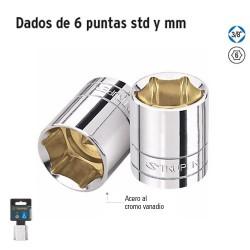 """Dados de 6 Puntas Cuadro 3/8"""" TRUPER"""