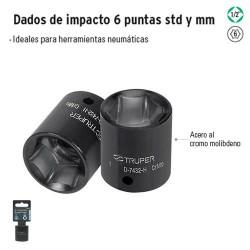 """Dados de Impacto 6 Puntas Cuadro 1/2"""" TRUPER"""