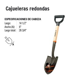 Pala Cajuelera Redonda TRUPER