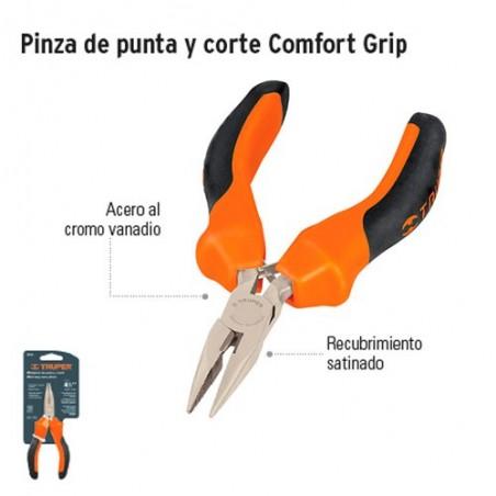 Pinza de Punta y Corte Comfort Grip TRUPER