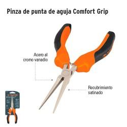 Pinza de Punta de Aguja Comfort Grip TRUPER