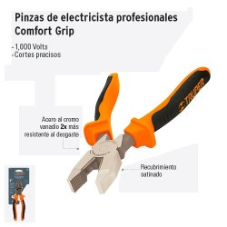 "Pinza de Electricista 9"" Profesional Comfort Grip TRUPER"