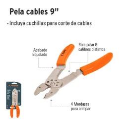 """Pinza Pela Cables 9"""" TRUPER"""