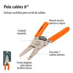 """Pinza Pela Cables 6"""" TRUPER"""