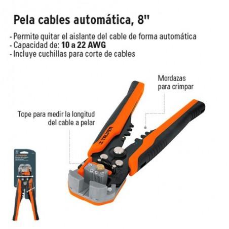 """Pinza Pela Cables Automática 8"""" TRUPER"""