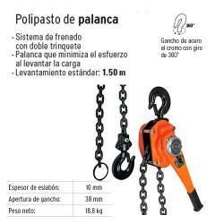 Polipasto de Palanca 3 Toneladas TRUPER