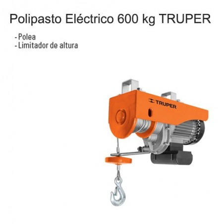 Polipasto Eléctrico 600 kg TRUPER