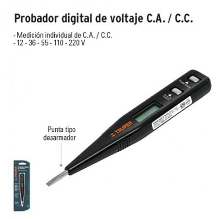 Probador Digital de Voltaje C.A. / C.C. TRUPER