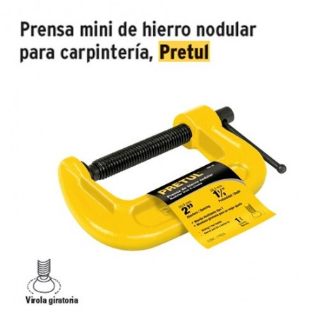 Prensa Mini de Hierro Nodular Para Carpinteria PRETUL