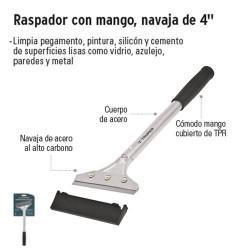 """Raspador con Mango Navaja de 4"""" TRUPER"""