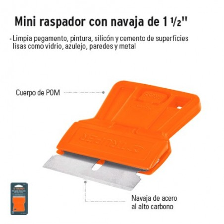 "Mini Raspador con Navaja de 1 1/2"" TRUPER"