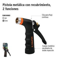 Pistola Metálica con Recubrimiento 2 Funciones TRUPER
