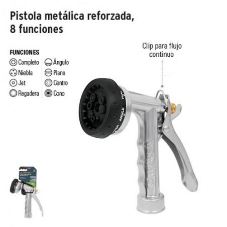Pistola Metálica Reforzada 8 Funciones TRUPER