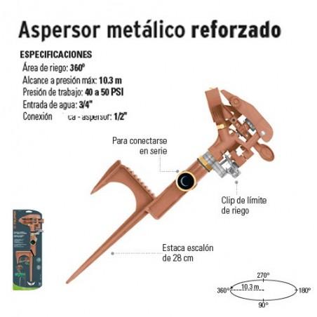Aspersor Metálico Reforzado TRUPER