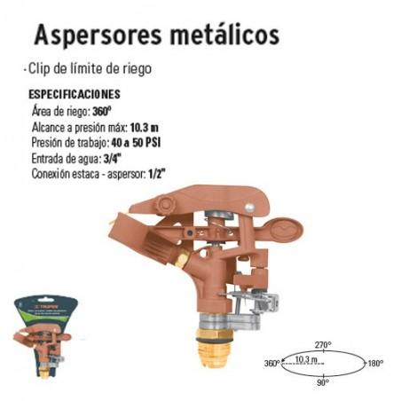 Aspersores Metálicos TRUPER