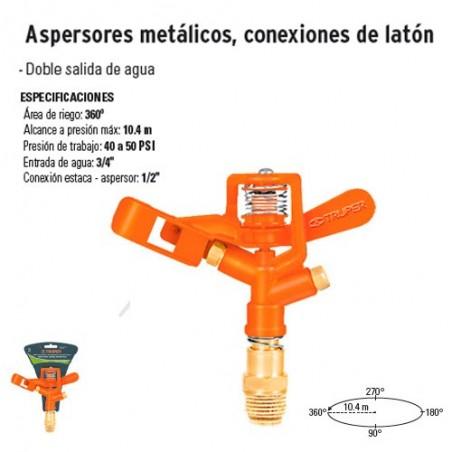 Aspersores Metálicos Conexiones de Latón TRUPER