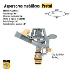 Aspersores Metálicos PRETUL