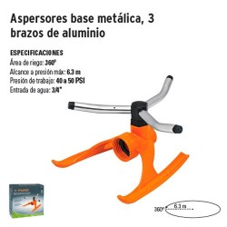 Aspersores Base Metalica 3 Brazos de Aluminio TRUPER
