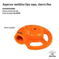 Aspersor Metálico Tipo Sapo Chorro Fino TRUPER