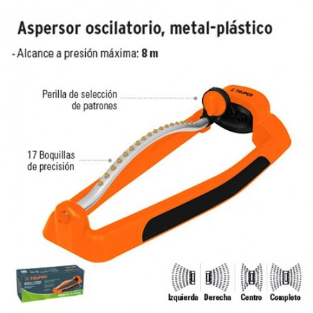 Aspersor Oscilatorio Metal-Plástico TRUPER