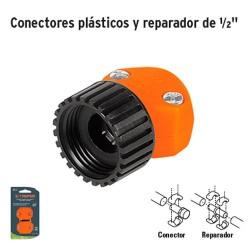 """Conectores Plásticos y Reparador de 1/2"""" TRUPER"""