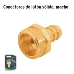Conector de Latón Sólido Macho TRUPER