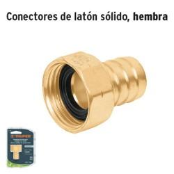 Conector de Latón Sólido Hembra TRUPER