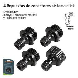 4 Repuestos de Conectores Sistema Click TRUPER