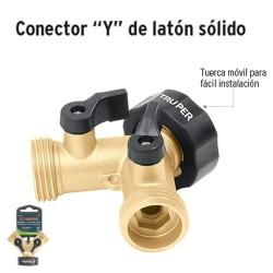 """Conector """"Y"""" de Latón Sólido TRUPER"""