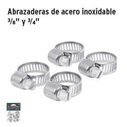 """Abrazaderas de Acero Inoxidable 3/8"""" y 3/4"""" TRUPER"""