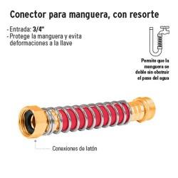 Conector Para Manguera con Resorte TRUPER