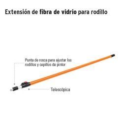 Extensión de Fibra de Vidrio para Rodillo TRUPER