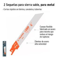 2 Seguetas para Sierra Sable para Metal TRUPER