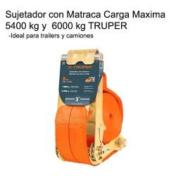 Sujetador con Matraca Carga Maxima 5400 kg y 6000 kg TRUPER